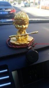 tượng tôn ngộ không- mỹ hầu vương mạ vàng full gold